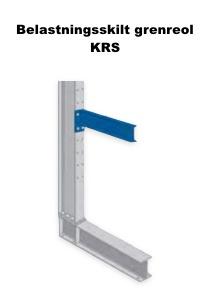Belastningsskilt Grenreol KRS