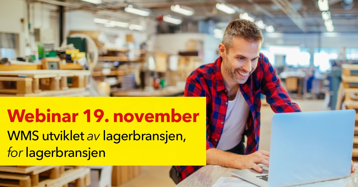 [Fullført] Webinar 19. november: WMS utviklet av lagerbransjen, for lagerbransjen